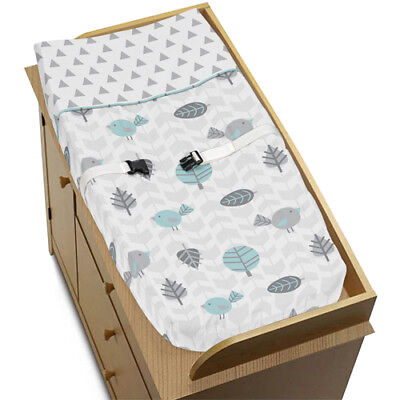 Sweet Jojo Changing Table Pad Cover For Turquoise Gray Earth Sky Baby Bedding