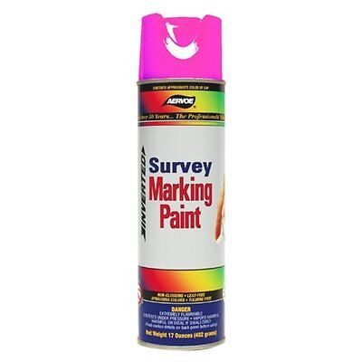 (Aervoe Upside-Down Marking Paint Case of Twelve Cans Flo. Pink 2229 )