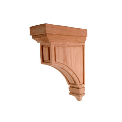 Oak Medium Corbels (CORBEL-M-2  Medium Mission Corbel  Red Oak 3 x 9 x)