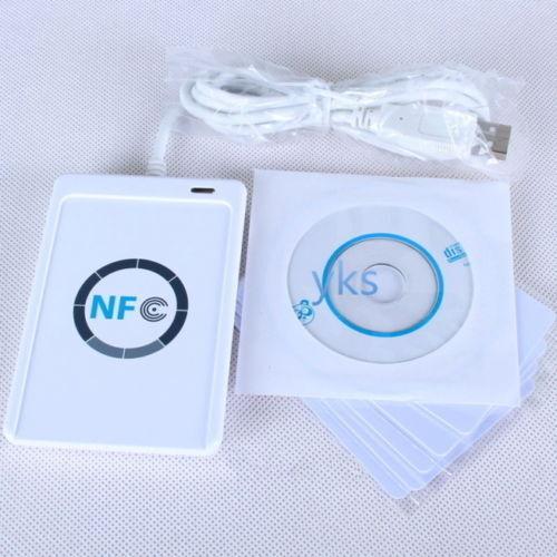 NFC ACR122U RFID Contactless Smart Reader & Writer/USB + 5X Mifare IC Card UR