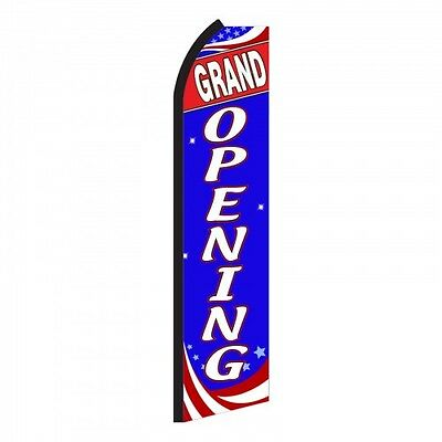 Grand Opening Rwb - Advertising Signswooper Feather Banner Flag Pole Only