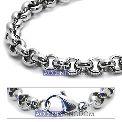 - Accents Kingdom 6mm Titanium Men's Rolo Chain Necklace