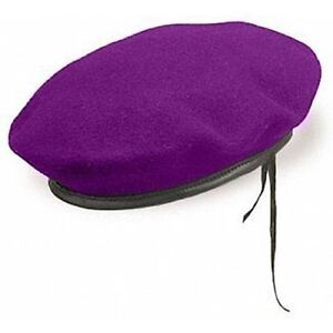 Military Purple Beret of IDF Givadi Infantry Brigade Israel Army Hat Soldier Cap