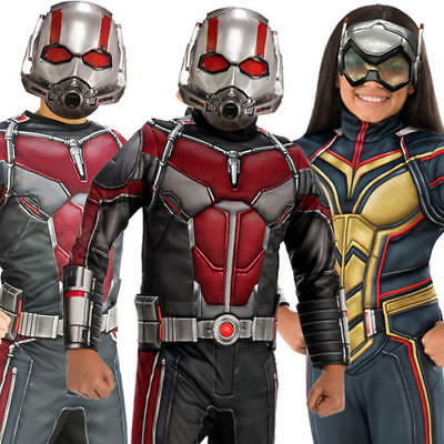 Ant-Man and the Wasp Kids Fancy Dress Marvel Comic Superhero Boys Girls Costumes (Wasp Marvel Kostüm)