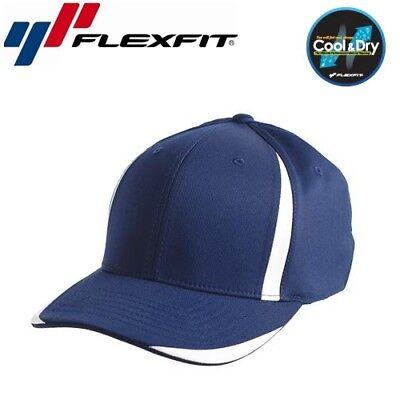 Flexfit Cool and Dry Sport Baseball Cap L/XL Navyblau Weiß