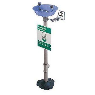 Sellstrom 90455 SentryWash Pedestal Mounted Eye Wash Flush Blue ABS Bowl 2 - Pedestal Mount Eye