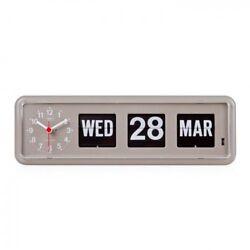 Twemco Retro Modern Flip Clock BQ38 Gray Made in Hong Kong