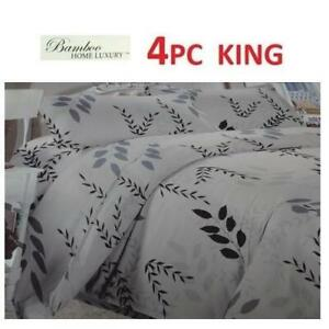 NEW BAMBOO 4PC BED SHEET SET KING 1122K 229713879 HOME LUXURY 9500 KING THREAD COUNTS WRINKLE FREE BEDDING BEDROOM 10...