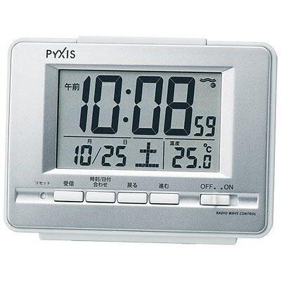 Seiko Japan Alarm Clock with Thermometer NR535W Silver