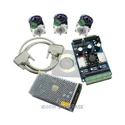 3 Axis 3a Stepper Controller Cnc Kit Nema23 24v Psu For Milling Machine
