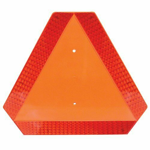 Slow Moving Vehicle Sign with Reflective Tape, Safety Triangle, w/ Tape