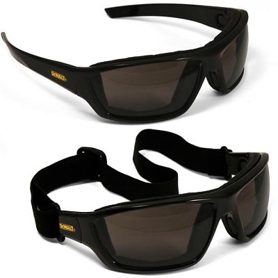 DeWALT Converter Safety Goggle Glasses with Smoke Anti-fog Lens, Black Frame