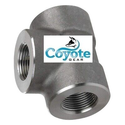 2-12 Npt High Pressure Forged Steel Tee Fitting 3000 Female T Coyote Gear