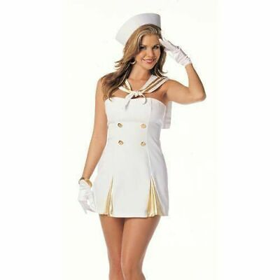 NEW Shirley of Hollywood 7451 Sexy Sailor Woman Costume Cosplay USA Last M/L (Hollywood Usa Kostüme)