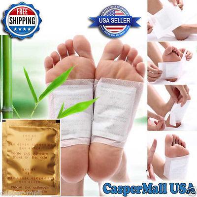 50 PCS GOLD Premium Kinoki Detox Foot Pads Organic Herbal Cleansing