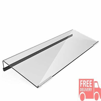 Acrylic Tilted Computer Keyboard Stand Keyboard Tray Holder W Silicone Non-slip