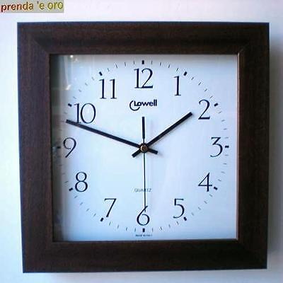 Reloj Cuadro de Madera Maciza Nogal LOWELL 70033