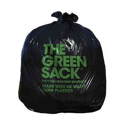 THE GREEN SACK Heavy Duty Black 100% Recycled 200 pack (code G773)
