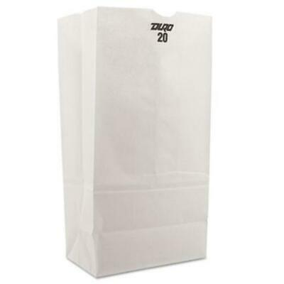 General Supply 51040 20 Paper Grocery Bag 40lb White Standard 8 14 X 5 516