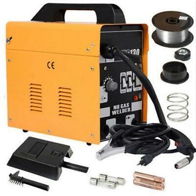 120amp Mig130 110v Flux Core Auto Feed Welding Machine Welder Wspool Wire Fan