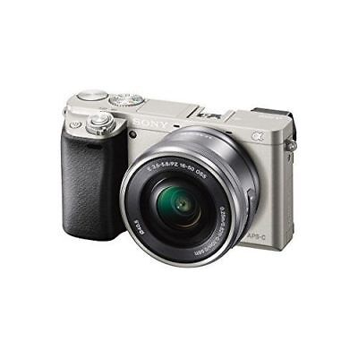 Sony Alpha a6000 24.3 MP Digital Camera with 16-50mm Lens Silver ILCE6000L/S