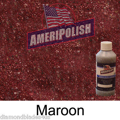 1 Gl.maroon Concrete Color Dye 4 Cement Stain Ameripolish Solvent Based