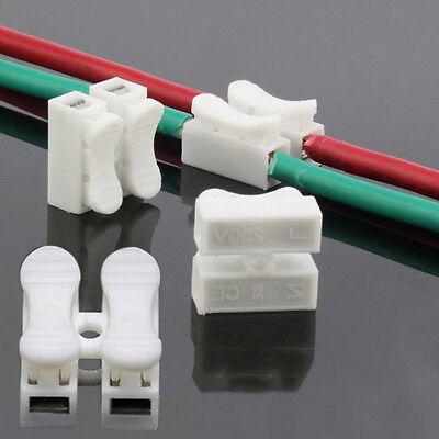 30x cable eléctrico conector de empalme rápido terminal de cable de bloq*ws