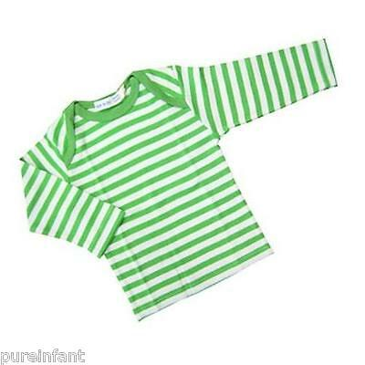 Under the Nile Organic Cotton Long Sleeved Lap Shoulder Tee: Green Stripe
