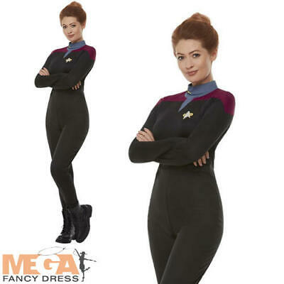 Star Trek Voyager Command Uniform Ladies Fancy Dress - Fi Kostüm