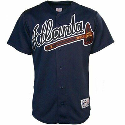Atlanta Braves Navy Replica Majestic Jersey Older Style A6400 New with tags 6400