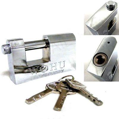 90MM HEAVY DUTY ANTI RUST SHUTTER PADLOCK SECURITY SHACKLE LOCK H-QUALITY STEEL