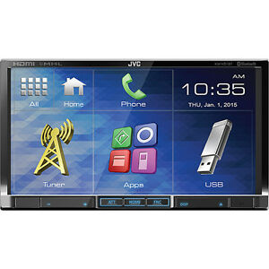"JVC 7"" HDMI/MHL Double-DIN Car Multimedia System with Bluetooth"