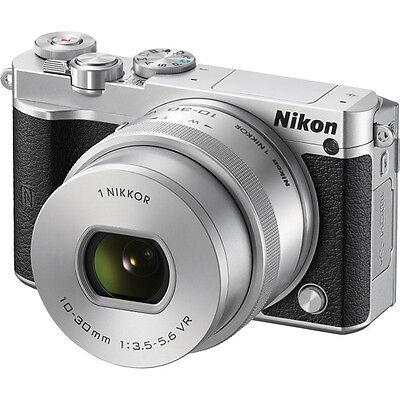 Nikon 1 J5 Mirrorless Digital Camera - Silver with 10-30mm Lens