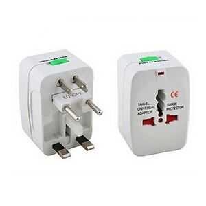 Vibe™ 110-250V International All-In-One Travel Adapter W/ Surge Protector