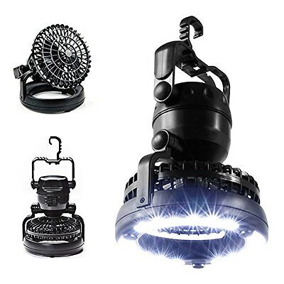 Camping Tent LED Light Fan Hiking Outdoor Gear Equipment Portable Ceiling Lamp