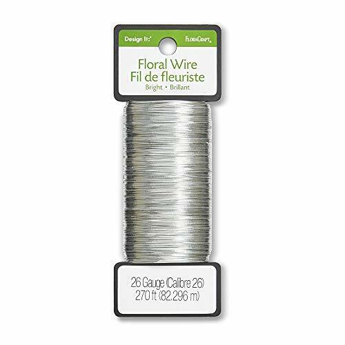 26 Gauge Floral Wire 270 Feet Bright Silver