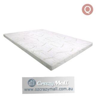 Queen Size Bamboo Fabric Cover Memory Foam Mattress Topper