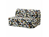 Lovely comfortable futon modern spotted fabric, bought 1 year ago, ikea