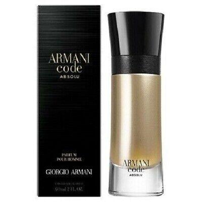 ARMANI CODE ABSOLU POUR HOMME 60ML EAU DE PARFUM SPRAY BRAND NEW & SEALED