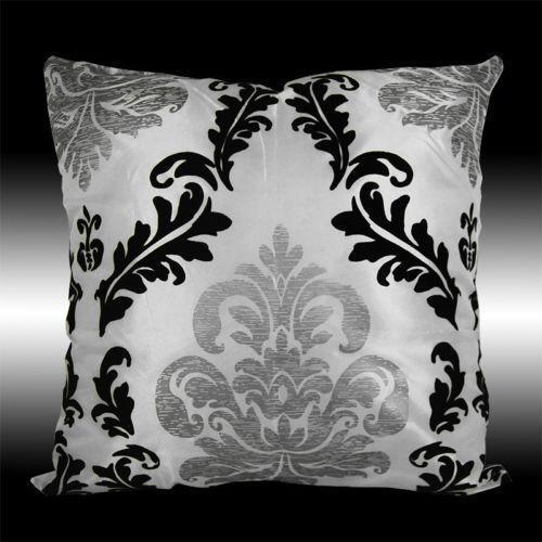 Black Damask Pillow Ebay