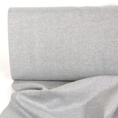 Metallic Stoff Baumwolle Leinen Essex Yarn Dyed fog silber Lurex Kaufman USA (Essex Leinen)