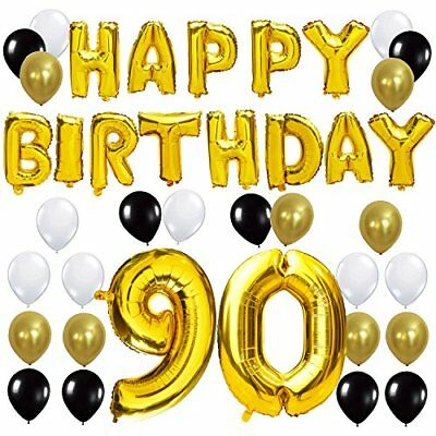 Party Decorations Kit - Happy Birthday Balloon Banner, Numb (Happy 90th Birthday Ballons)