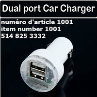 Dual 2 Port USB Car Charger Adapter for iPad iPhone 4 4G 4S iPod