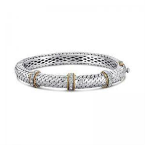 14kt Gold and Sterling Silver Bracelt with Diamonds