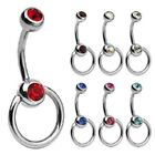 CZ Stainless Steel Ring Navel Piercing Jewelry