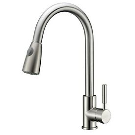 Brand New Kitchen Tap in Original Packaging - Refin Pre-rinse with pull out spray in brushed nickel