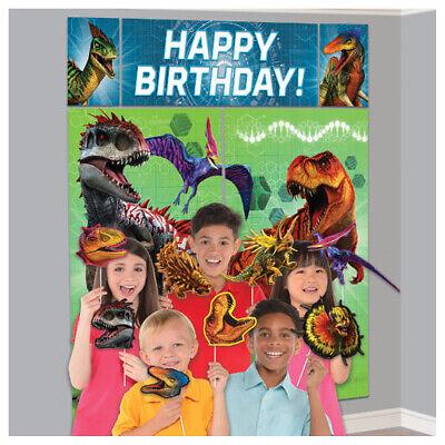 Dinosaur Scene Setter (JURASSIC WORLD Dino Hybrid SCENE SETTER w PROPS (17pc) ~ Birthday Party)