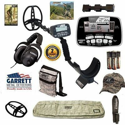 Garrett AT Pro Metal Detector with Camo Detector Bag, Camo Hat, and More !