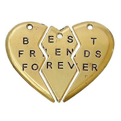 BFF Best Friends Forever 3pc Split Heart Pendant for (Best Friends Split Pendant)