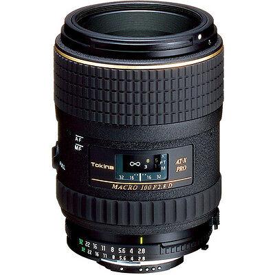 Tokina 100mm f/2.8 AT-X M100 AF Pro D Macro Autofocus Lens for Nikon BRAND NEW!!